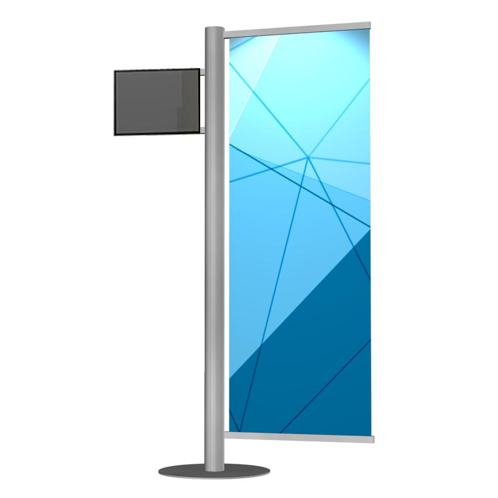 monitor lcd jedna powierzchnia reklamowa