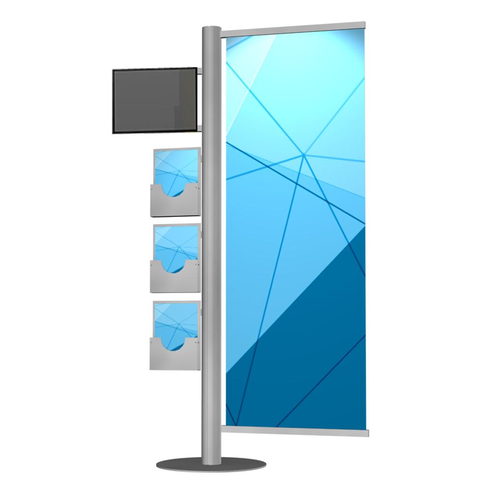 monitor lcd trzy kuwetki jedna powierzchnia reklamowa